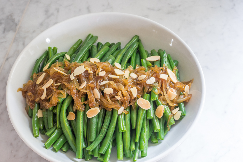 Green Beans with Caramelized Onions (gf, v)