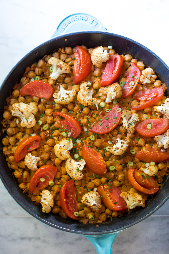 Cauliflower and Chickpea Paella (gf,v)