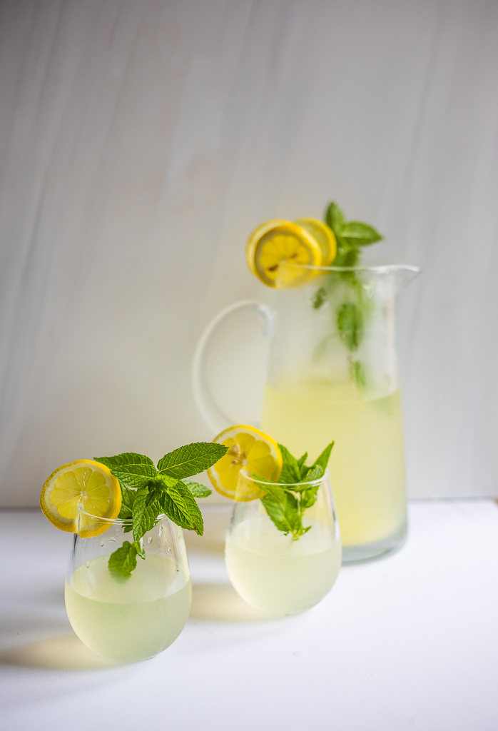 Mint Lemonade with Maple Syrup (GF, V, P)