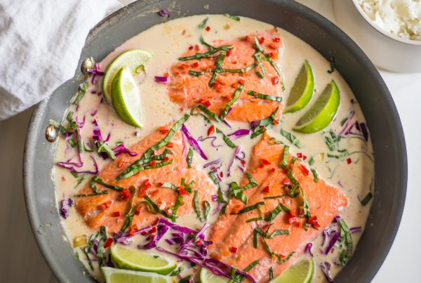 Coconut Milk Salmon and Rice